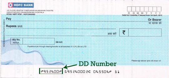 hdfc bank demand draft form excel