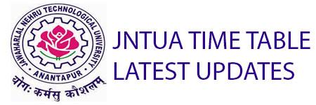 JNTUA TIME TABLE