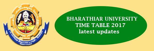 bharathiar-university-time-table-2017